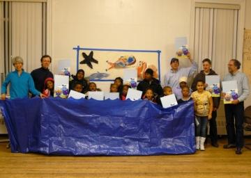 Wear Blue Rally at Cambridge Community Center