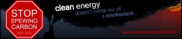 Stop Spewing Carbon Campaign logo
