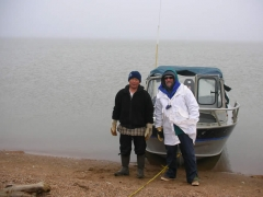 Lewis Brower and Rob 25 miles east of Barrow AK