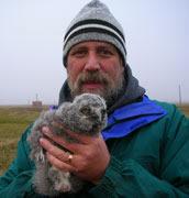 Rob Moir with Owl