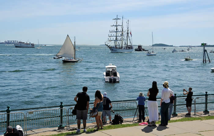 Boston Harbor Summer Day