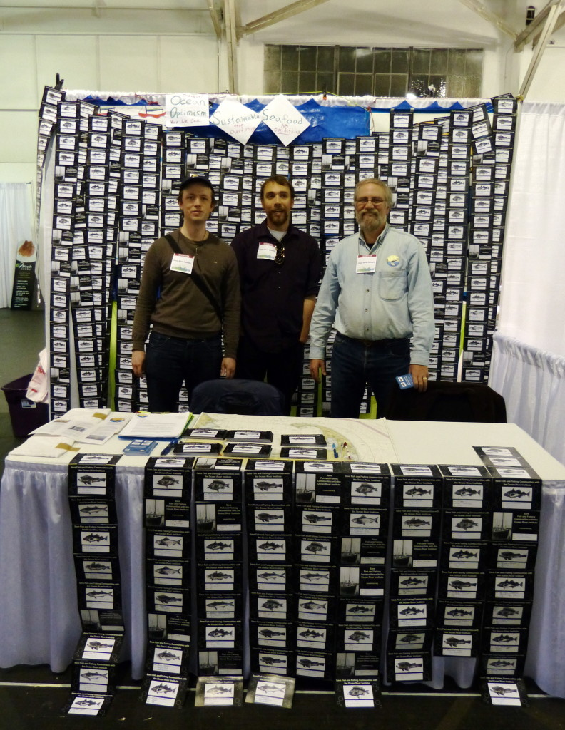 Harper, Ryan, and Rob with ORI Fish Cards at SF Green Festival 2014