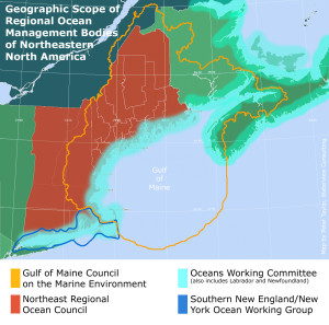 Coordinating regional planning for ocean industry, conservation, and recreation, the Northeast Regional Planning Body has the responsibility of developing an ocean management plan for New England.  http://northeastoceancouncil.org/
