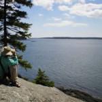 Steward on Maine  Ocean sky