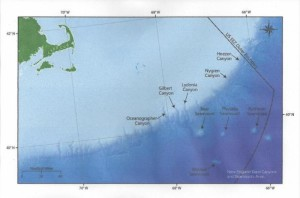sea park map of canyons and seamounts