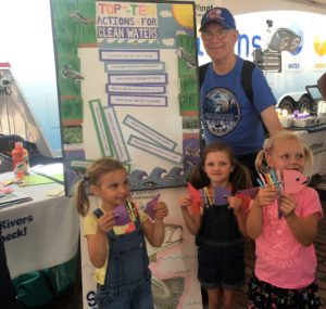 At Boston's GreenFest we made dead fish out of paper, pipe cleaner, straws and beads.