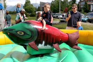 Bucking Salmon at the Alaska Oceans Festival, Anchorage